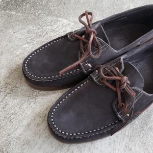 Paraboot  BARTH パラブーツの春夏靴 バース ネイビーグレースエード 新色入荷