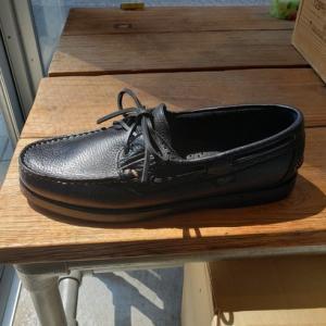 夏のおすすめ靴 パラブーツ デッキシューズ バース シボ革ブラック