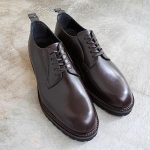 とても履きやすい革靴 WHダブルエイチ プレーントゥ ダークブラウン 東京・中野坂上ソークツ