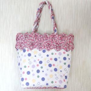 薔薇のバッグとかごあみバッグ