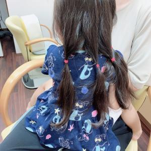 *2歳半でヘアドネーションは最年少&初めてのカット*