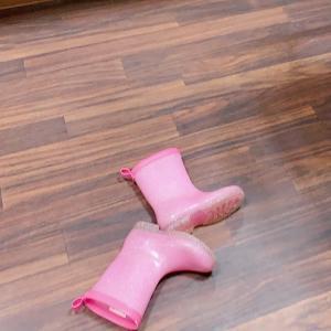 *ピンクの長靴がとても可愛い園児さんのヘアドネーション*