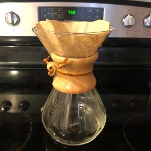 ケメックスで朝コーヒー