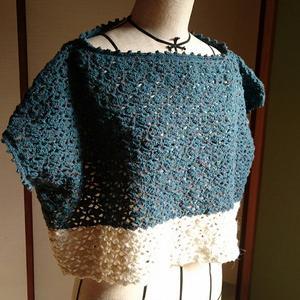 手編みのプルオーバー