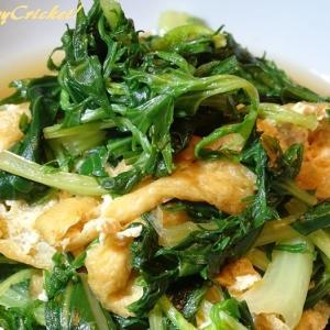 子供たちにも大人気!油揚げの和風カレー煮で水菜を大量消費∂(o^O^o)∂やったー!
