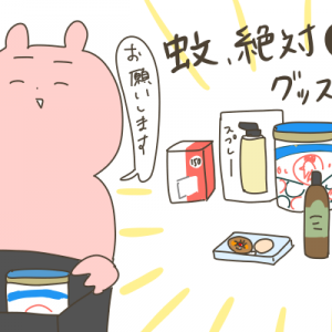 蚊対策に〇千円使った