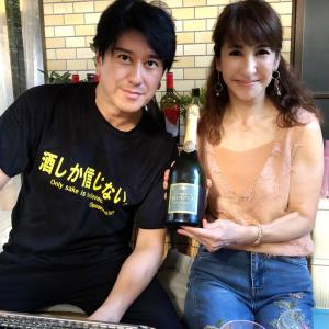 シャンパン&バーベキュー♪♪庭飲みします(*´∀`)♪
