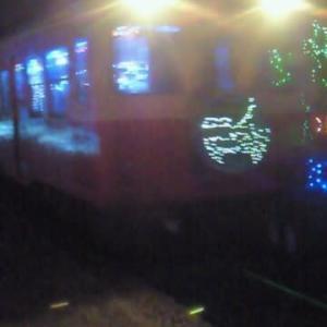 2017年の晩秋の市原のイルミネーション『イルミネーション列車in月崎駅&クオードの森』