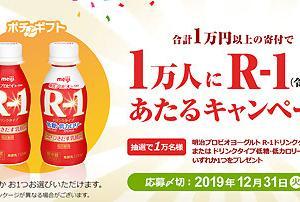 さとふる 1万円以上の寄附で1万人にR-1あたるキャンペーン