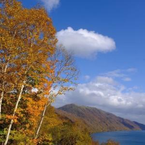 支笏湖の秋(10/30 m)