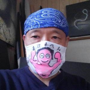 コロナウイルスと闘おう マスクお絵かき作戦