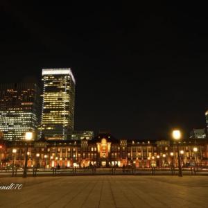 東京駅夜景~御幸通り