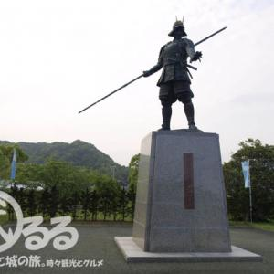武将の銅像   長宗我部元親の銅像-1 - 初陣の地に建つ勇ましい銅像!   地図付き