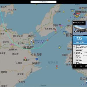 """""""仔馬""""搬送チャーター便 大韓航空747-8 延着で離陸は見れなかったけど・・❗️"""