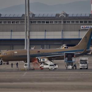 今日の珍客❣️プライベートジェット BBJ2. マレーシアへ飛び立つ❗️ 今日は他に4機飛来でした・・・