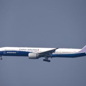 ボーイングと航空会社のロゴが施された777-300ER B-18007 久し振りです‼️
