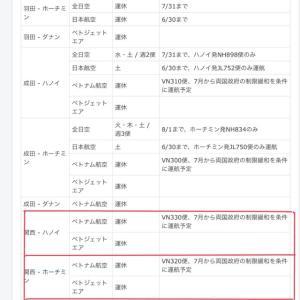 ベトナム航空、日越両国政府の制限緩和を前提に東京/成田・大阪/関西線の7月からの再開を検討‼️