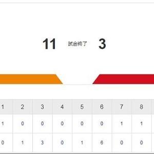 本日はデーゲームの「広島×巨人」戦…カープ、また負けました(^-^;