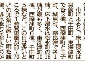 7/15の大雨の際、福山市内では床下浸水被害は結構ありましたんですネ…