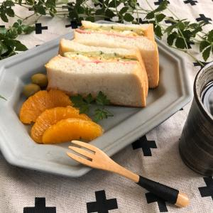 贅沢サンドの出来上がり・スタミナアップの美味しいごはん♪