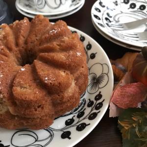 お気に入りの型でアップシナモンケーキと鎌倉銘菓でおうちカフェ