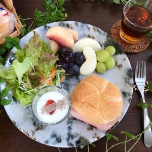 息子の京都土産で朝ごはんとおうちカフェ