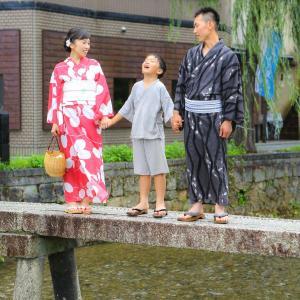 ご家族一緒に京都で浴衣❀