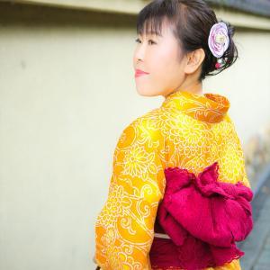 黄色の浴衣でHAPPYに♡