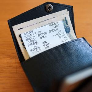 ミニマム財布の中もすっきり!レシートや領収書の片付け、保管と処理は、こうしています。