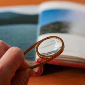 ジョージジェンセンのアクセサリーで老眼対策??? 「シェイドルーペ」がおしゃれ&便利で助かっています。