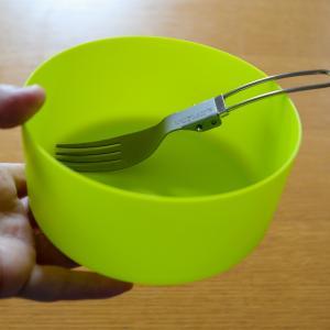【ソロキャン用食器】MSRのディープディッシュボウルが、かるくて持ちやすくてとても使いやすいです。