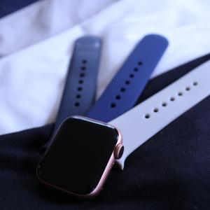 【ミニマムコーデ】AppleWatchのベルトを黒・ネイビー・オフホワイトで制服化!