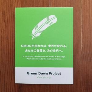 ダウンはリサイクルへ【Green Down Project】