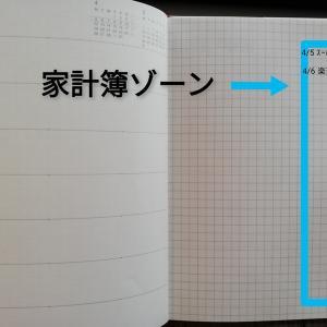 【無印】普段使ってる手帳でそのまま家計簿