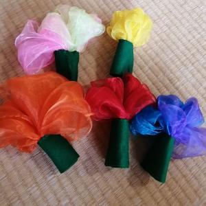 ダンススカーフでお花