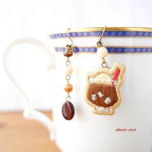 【お知らせ】cafeピアス(コーヒーフロート) 販売開始しました
