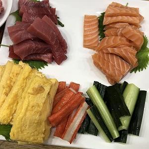 自宅でね 手巻き寿司