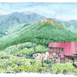 北アルプス西穂山荘と焼岳