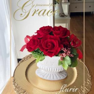 赤いローズも人気です♪熊本プリザーブドフラワー教室・アーティフィシャルフラワー教室Grace