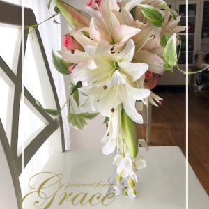 結婚祝いにユリのブーケ♪熊本プリザーブドフラワー教室・アーティフィシャルフラワー教室Grace
