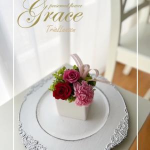 お母様の誕生日に体験レッスンをプレゼント♪熊本プリザーブドフラワーGraceグラース