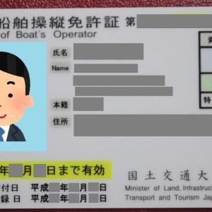 小型船舶免許の更新★滋賀