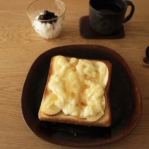 りんごとチーズとはちみつ胡椒がけトーストおうちごはん