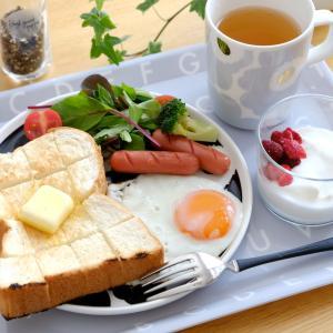 ダイソー*いつもの朝食がホテル並みに!?巷でウワサのキッチンアイテム♪と、業スーのイチオシ食材