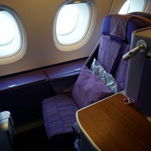 タイ国際航空のA380(TG306)ビジネスクラスに乗ってきた