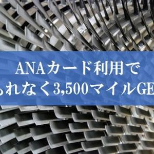 【10/31締切】ANAカードで3,500マイルもらえる「ANAカードご利用ありがとうキャンペーン2019」は終了直前でもまだ間に合う。