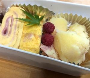 【今日のお弁当】粉吹き芋とベーコン