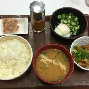 【定食】すき家の「まぜのっけごはん朝食」320円