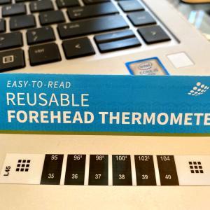 コロナウィルスで会社から送られてきた簡易体温計