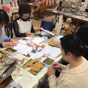 テディベア講習会@阪急うめだ本店初日終了しました。